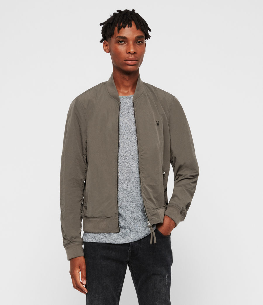 Mens Cutler Bomber Jacket (dark_khaki_green) - Image 1