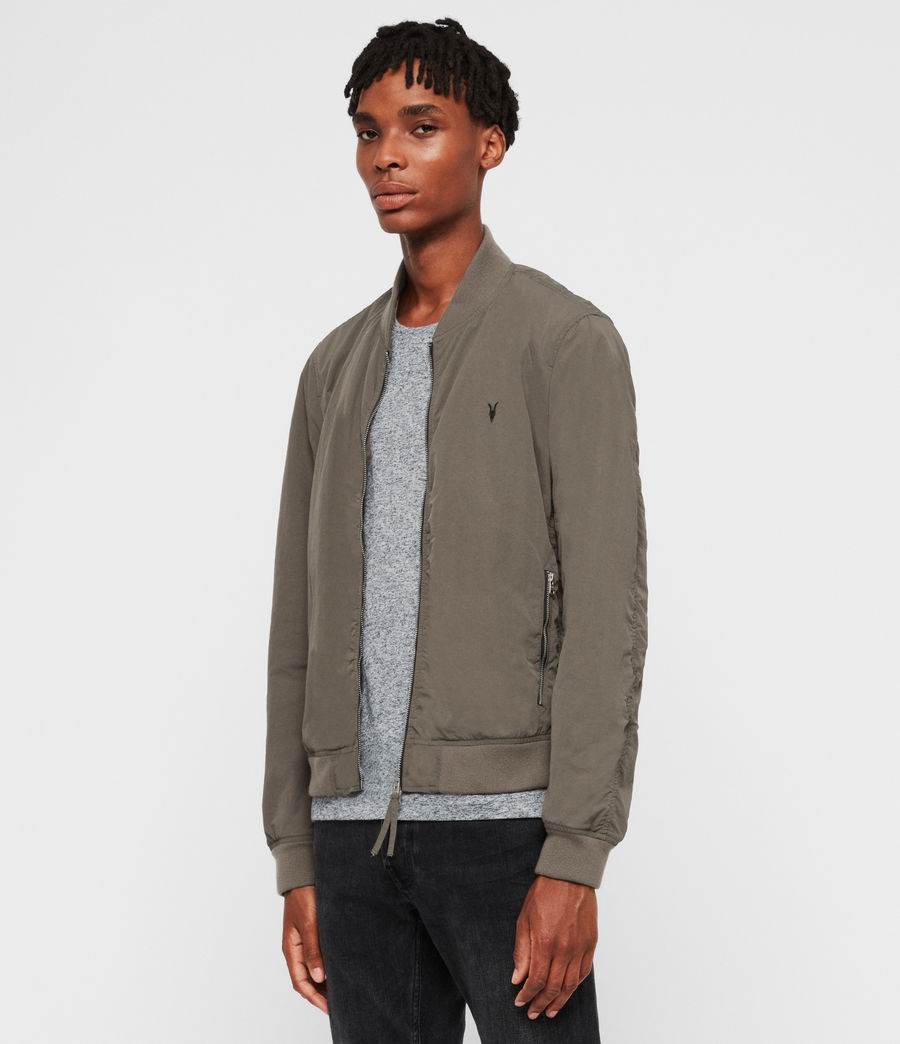 Mens Cutler Bomber Jacket (dark_khaki_green) - Image 4