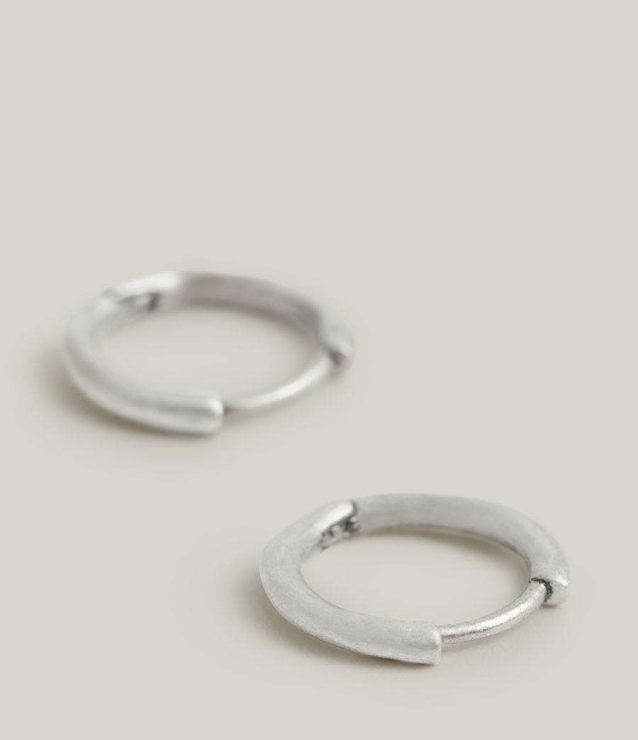 Men's Aarav Sterling Silver Earrings (warm_silver) - Image 2