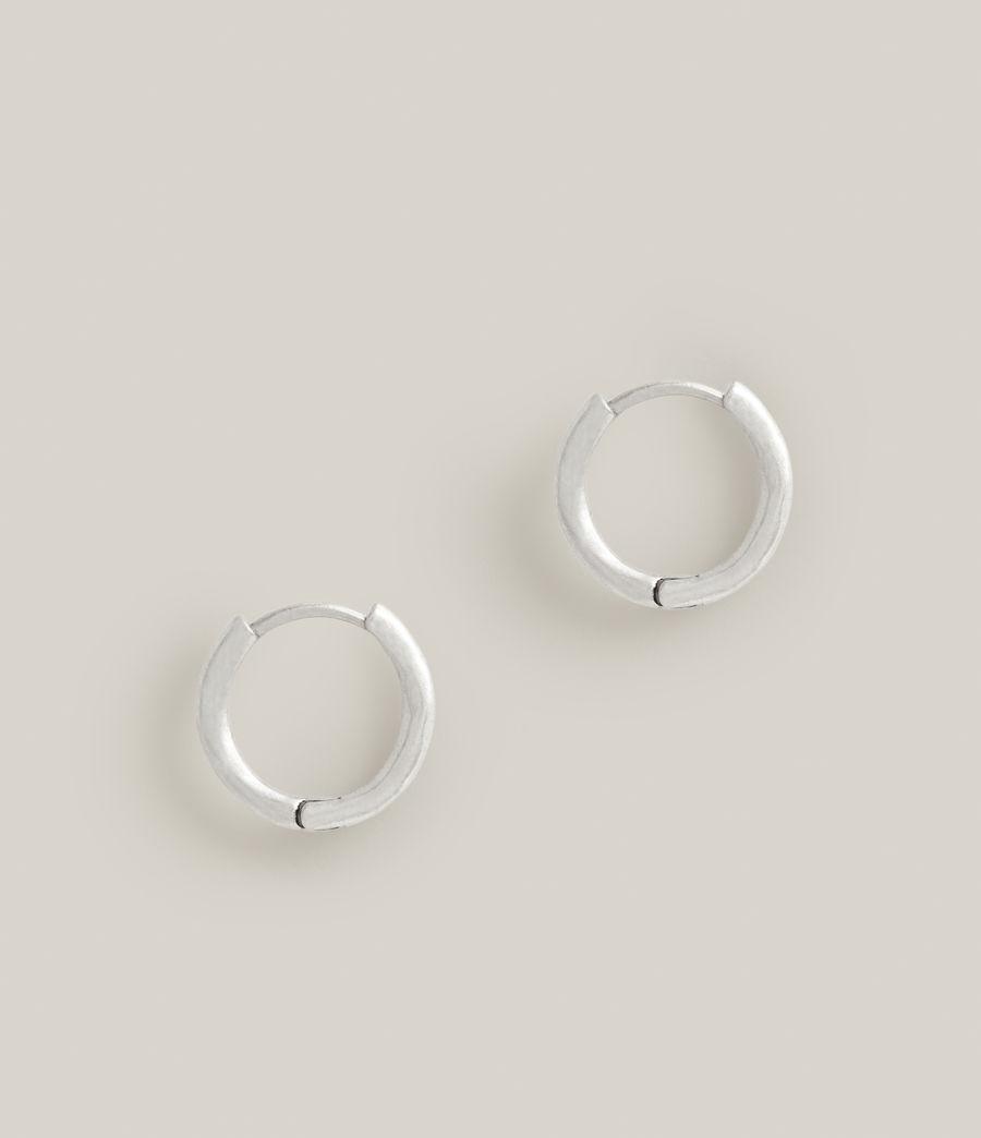 Men's Aarav Sterling Silver Earrings (warm_silver) - Image 3