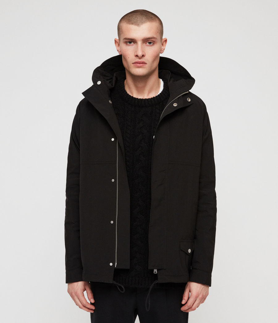 Mens Tanaka Hooded Jacket (black) - Image 1