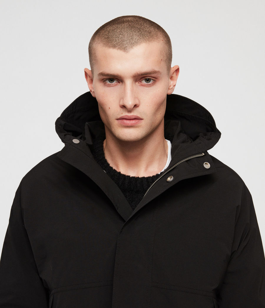 Mens Tanaka Hooded Jacket (black) - Image 2