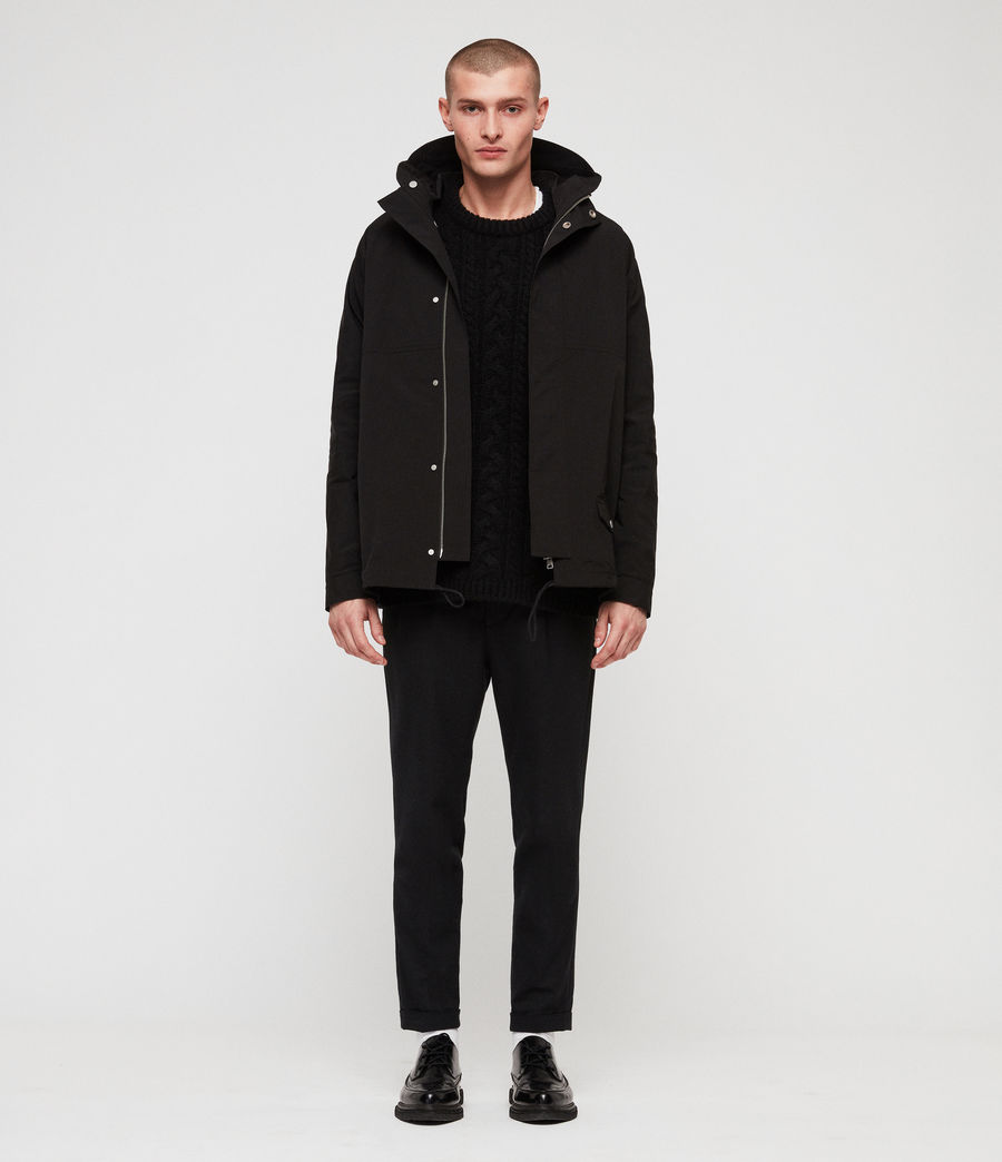 Mens Tanaka Hooded Jacket (black) - Image 3