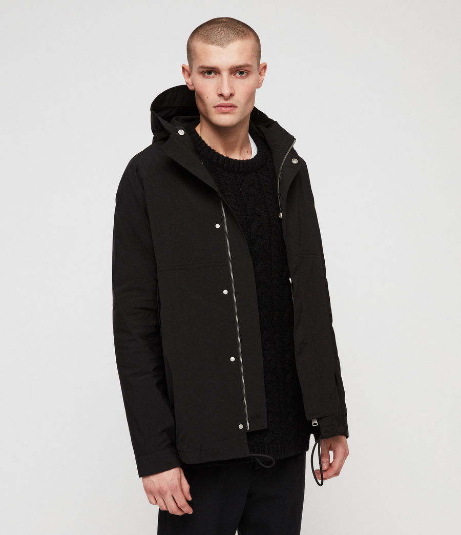 Mens Tanaka Hooded Jacket (black) - Image 4