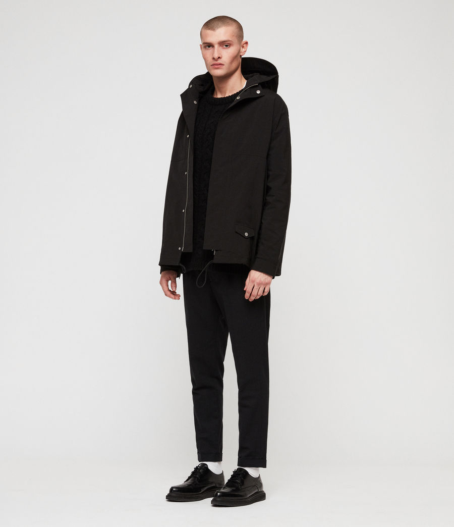 Mens Tanaka Hooded Jacket (black) - Image 5