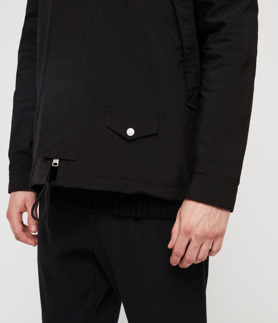 Mens Tanaka Hooded Jacket (black) - Image 6