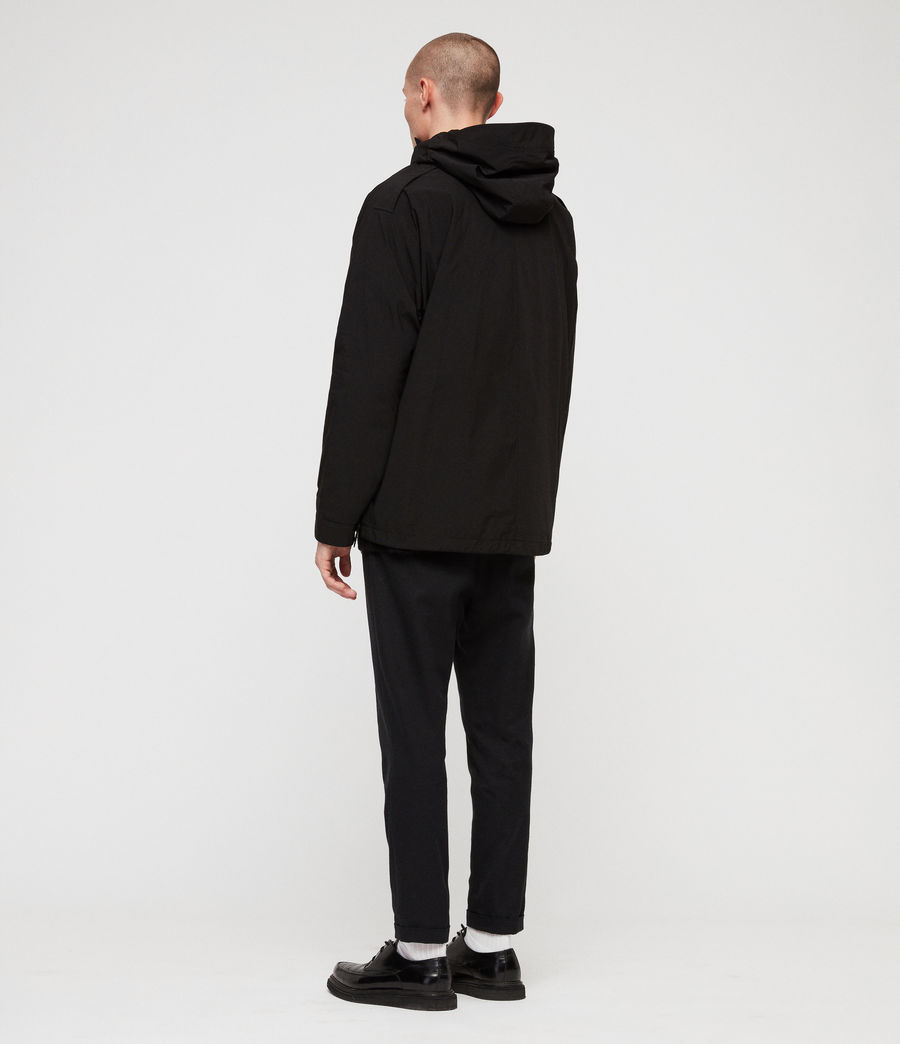 Mens Tanaka Hooded Jacket (black) - Image 7