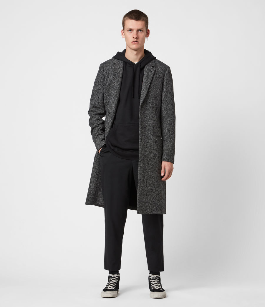 Men's Baiden Wool Blend Coat (black_white) - Image 1