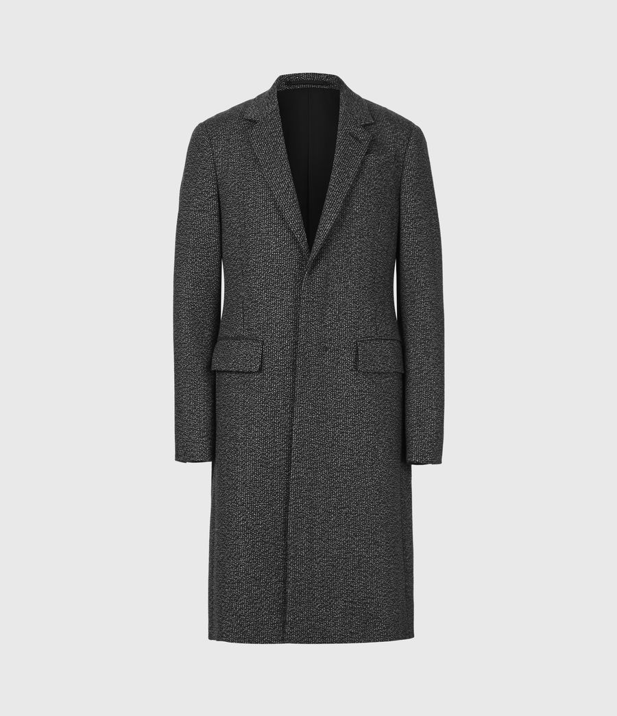 Men's Baiden Wool Blend Coat (black_white) - Image 2