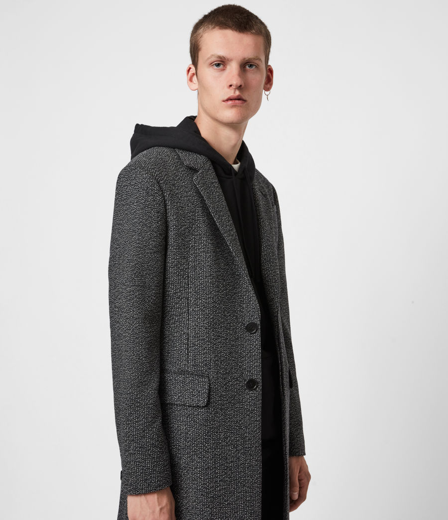 Men's Baiden Wool Blend Coat (black_white) - Image 4