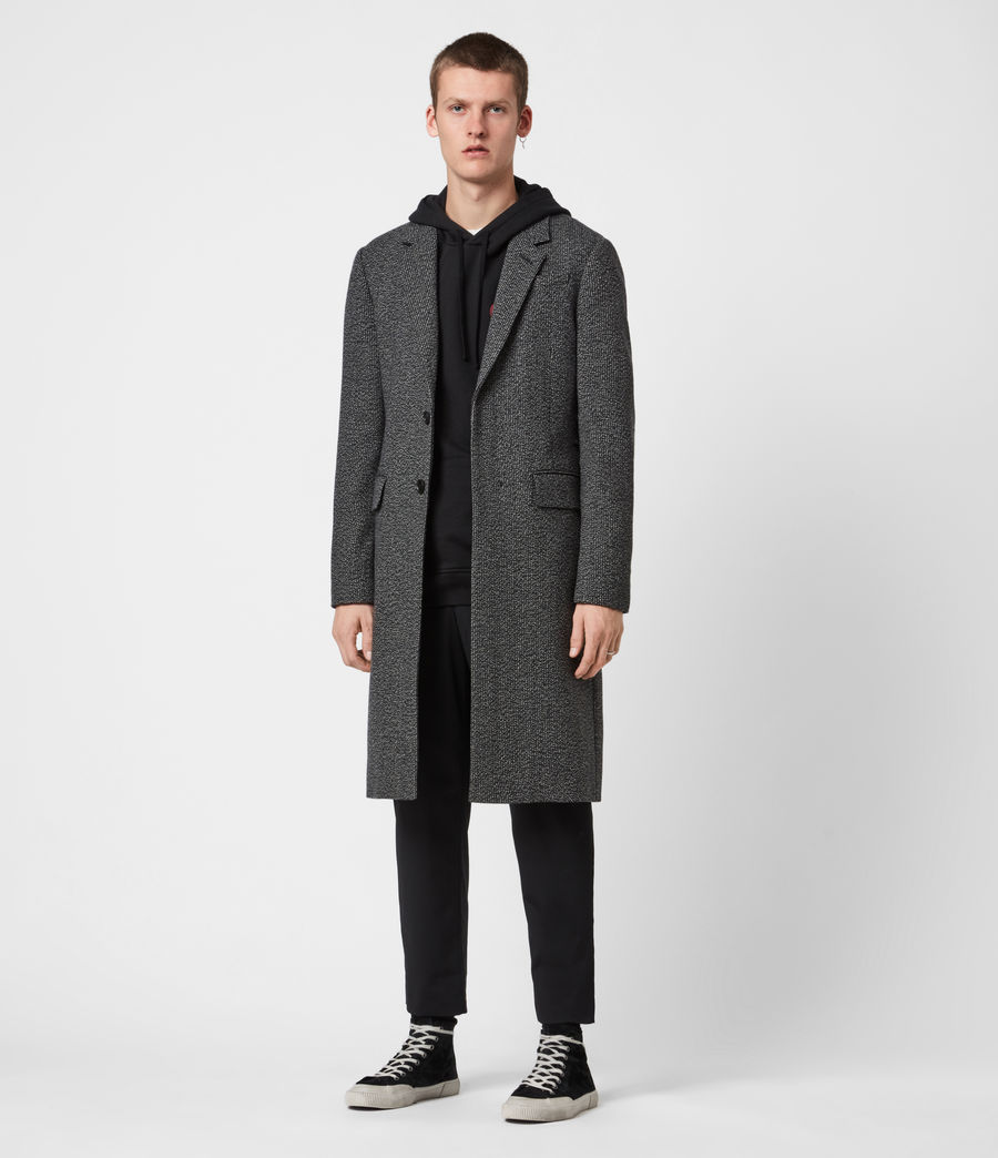 Men's Baiden Wool Blend Coat (black_white) - Image 6