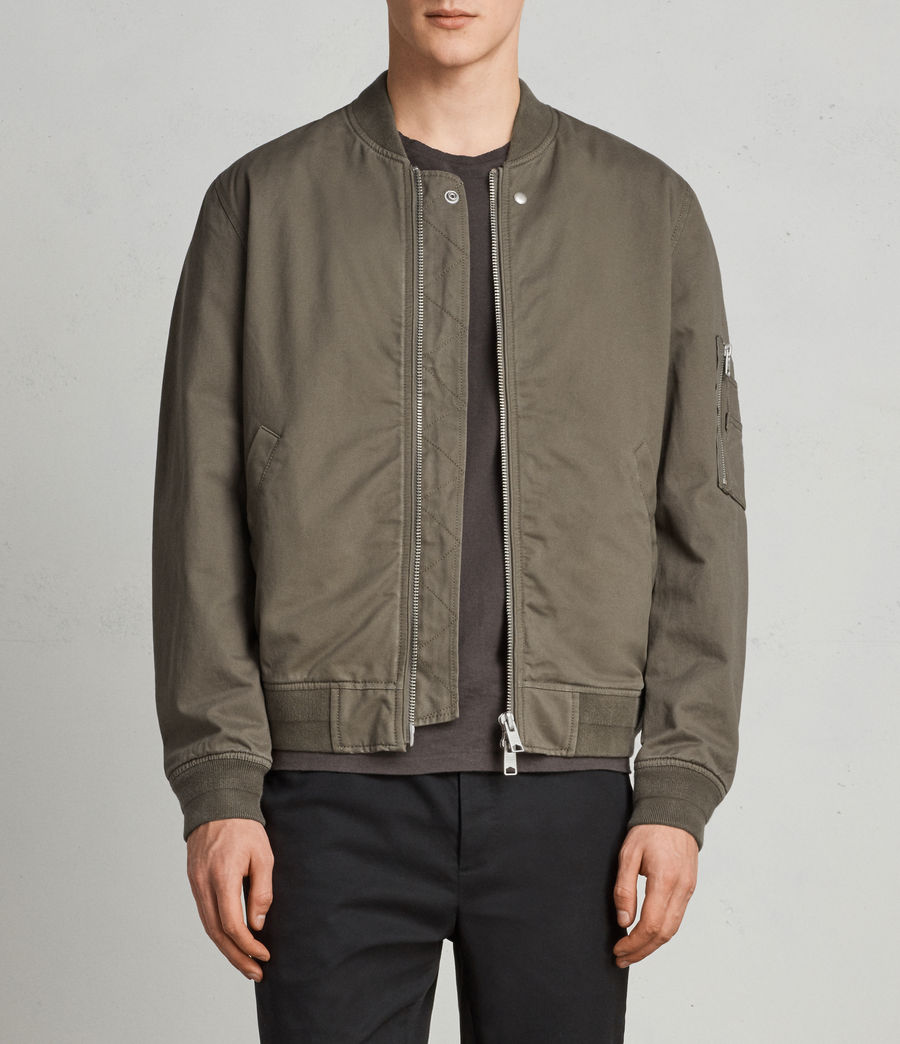Men's Satta Bomber Jacket (dusty_olive) - Image 1