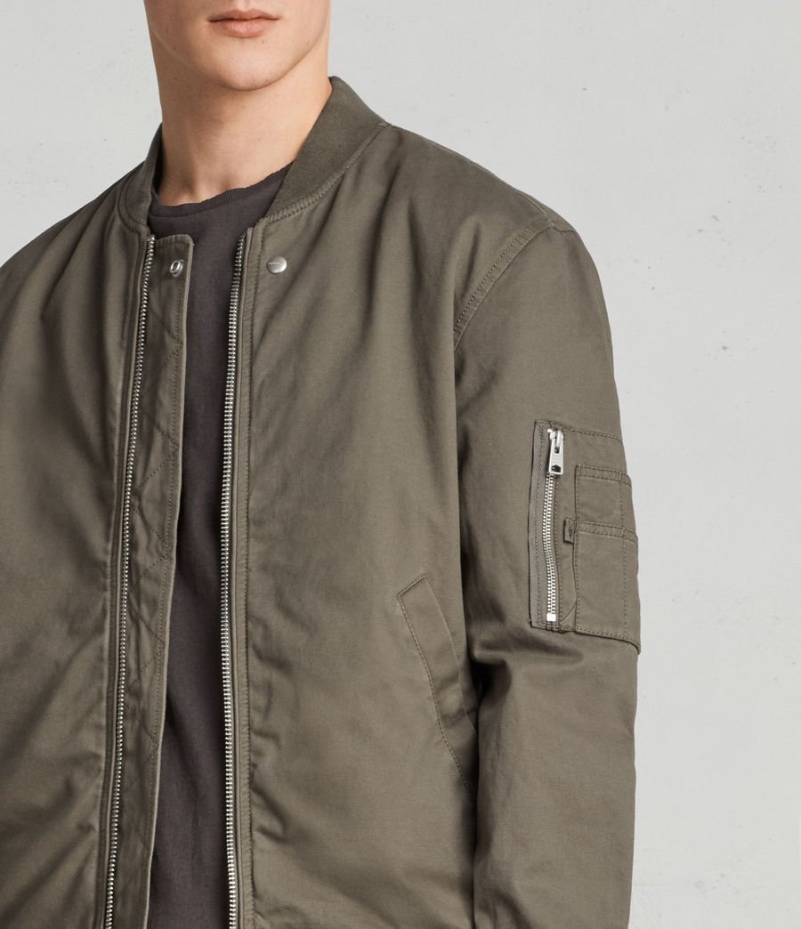 Men's Satta Bomber Jacket (dusty_olive) - Image 2