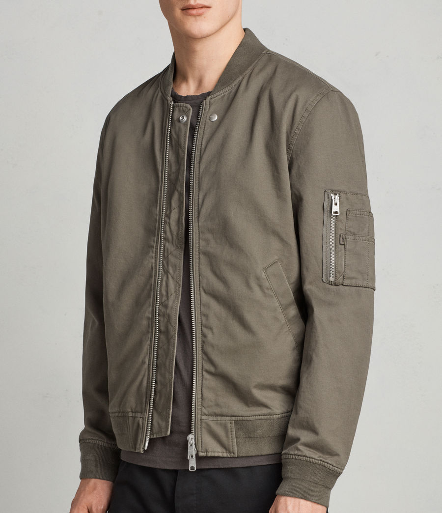 Men's Satta Bomber Jacket (dusty_olive) - Image 5