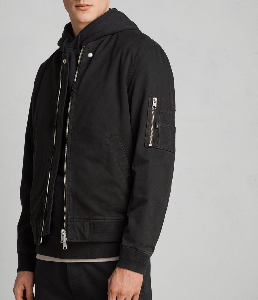 Men's Satta Bomber Jacket (jet_black) - Image 1