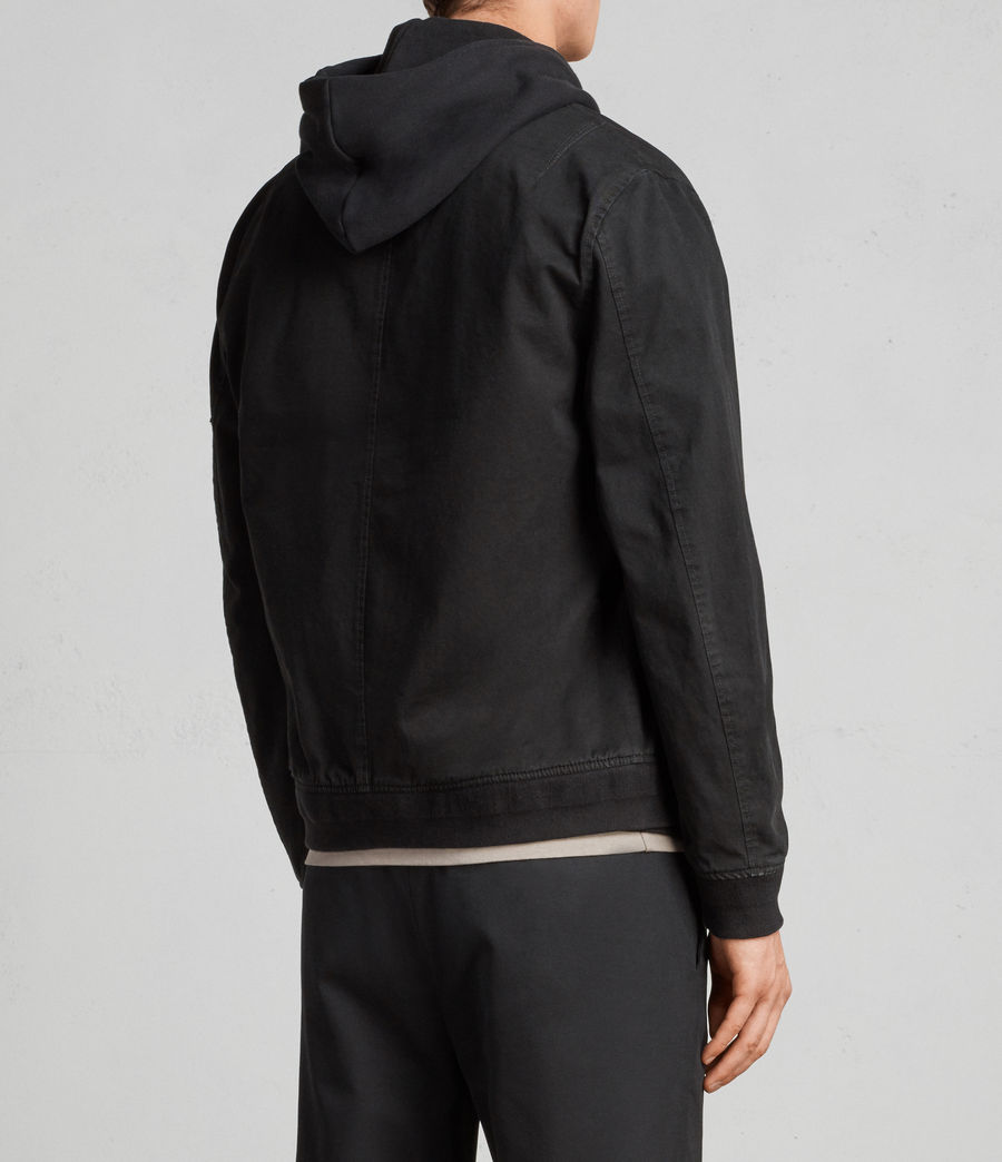 Men's Satta Bomber Jacket (jet_black) - Image 5