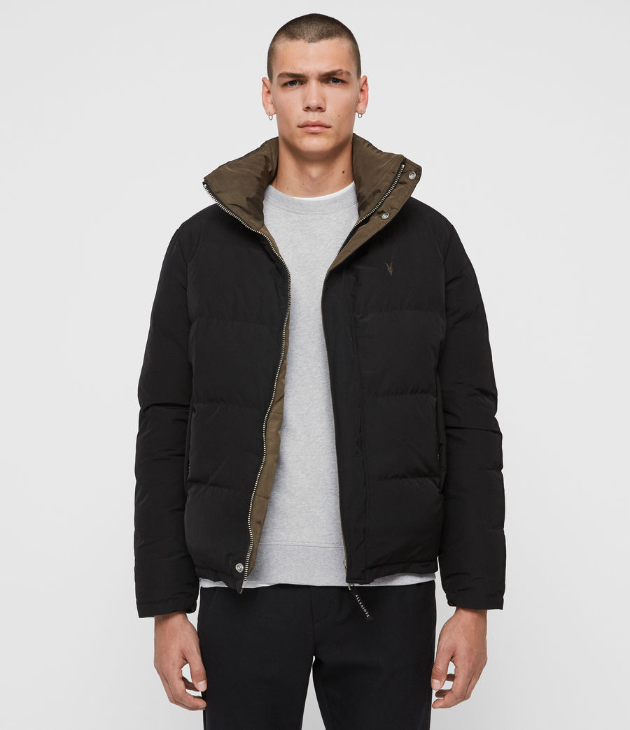 Mens Novern Jacket (black_khaki_brown) - Image 1