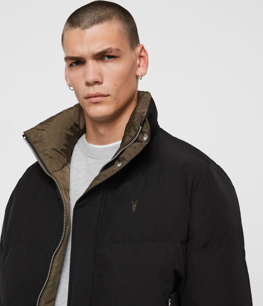 Mens Novern Jacket (black_khaki_brown) - Image 6
