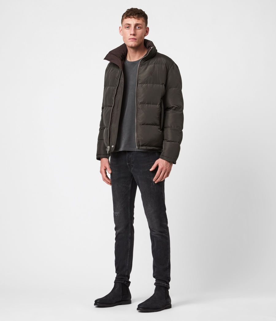 Herren Novern Reversible Ramskull Puffer Jacket (oxblood_grey) - Image 5