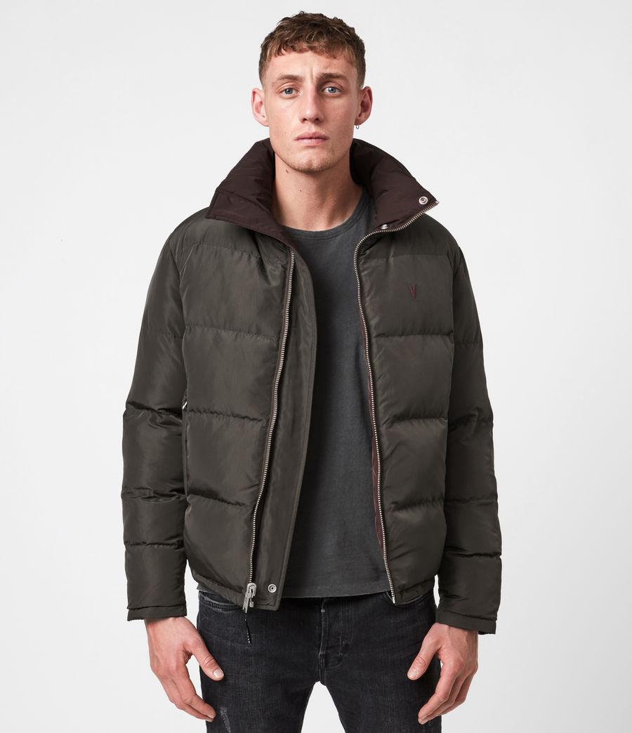 Mens Novern Reversible Ramskull Puffer Jacket (oxblood_graphite) - Image 1