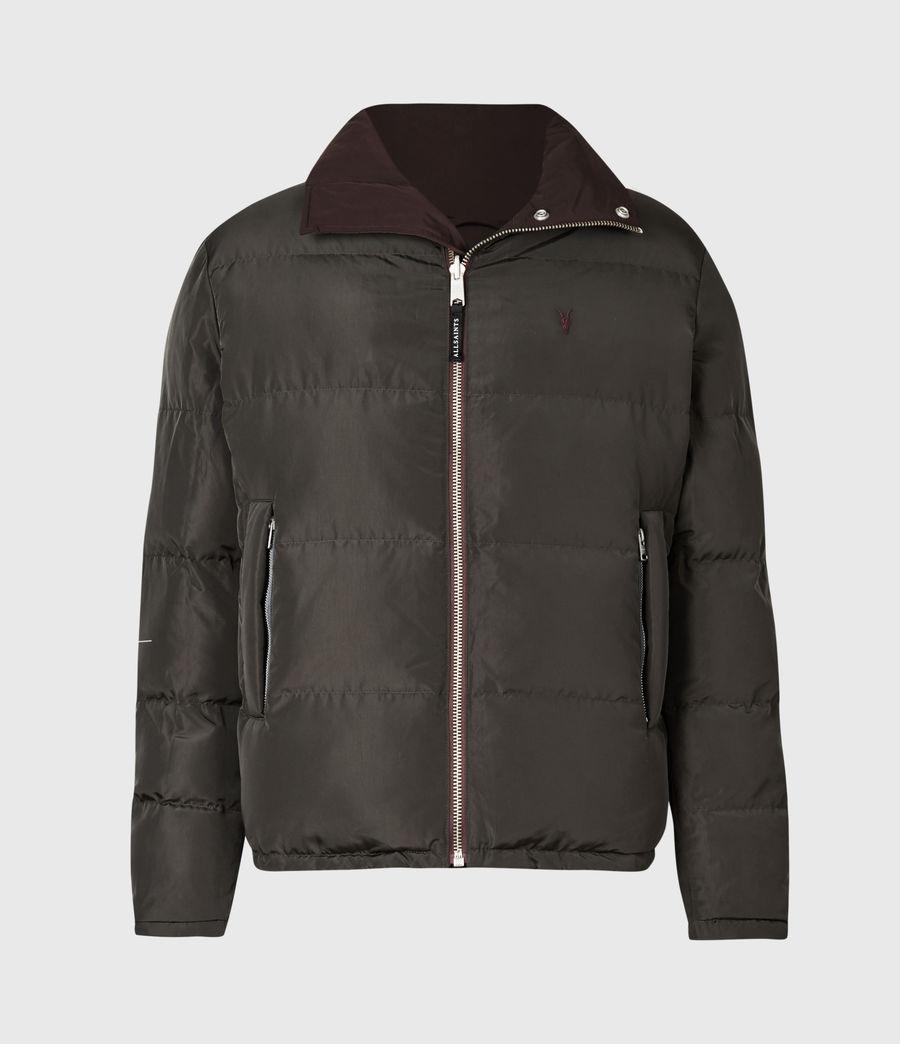 Mens Novern Reversible Ramskull Puffer Jacket (oxblood_graphite) - Image 2