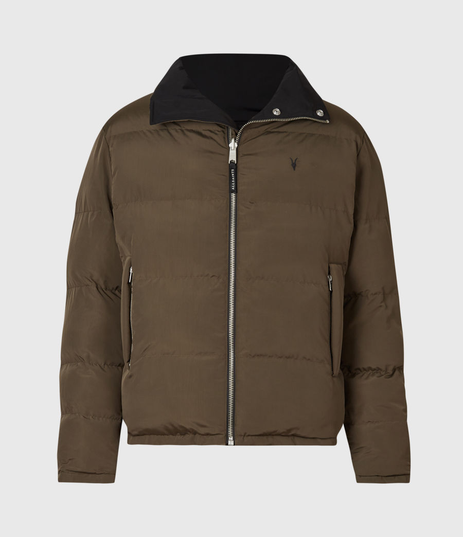 Men's Novern Reversible Ramskull Puffer Jacket (black_khaki) - Image 2