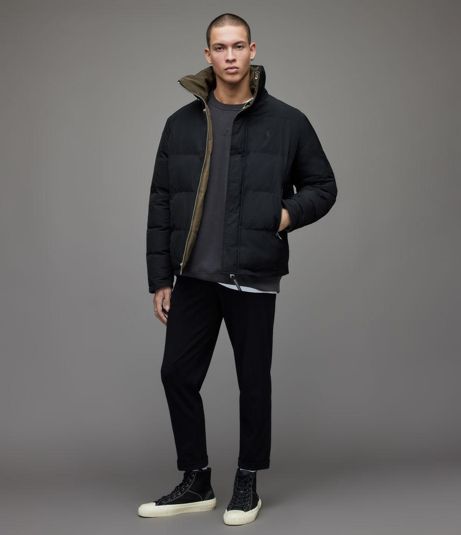 Men's Novern Reversible Puffer Jacket (black_khaki) - Image 3