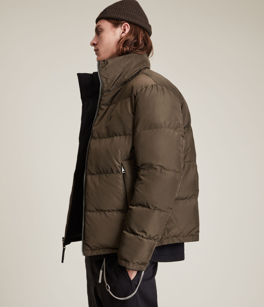 Men's Novern Reversible Ramskull Puffer Jacket (black_khaki) - Image 5