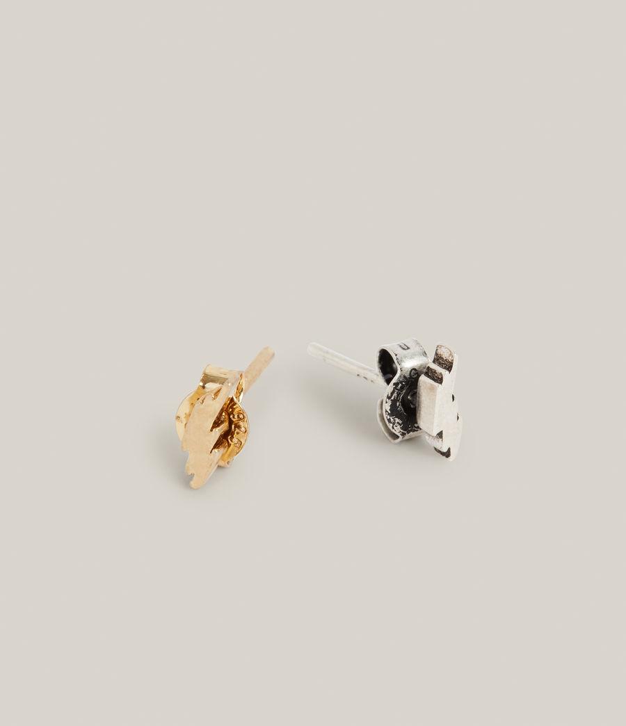 Men's Atlas Earrings (warm_silver_brass) - Image 3