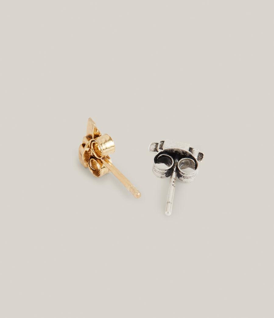 Men's Atlas Earrings (warm_silver_brass) - Image 5