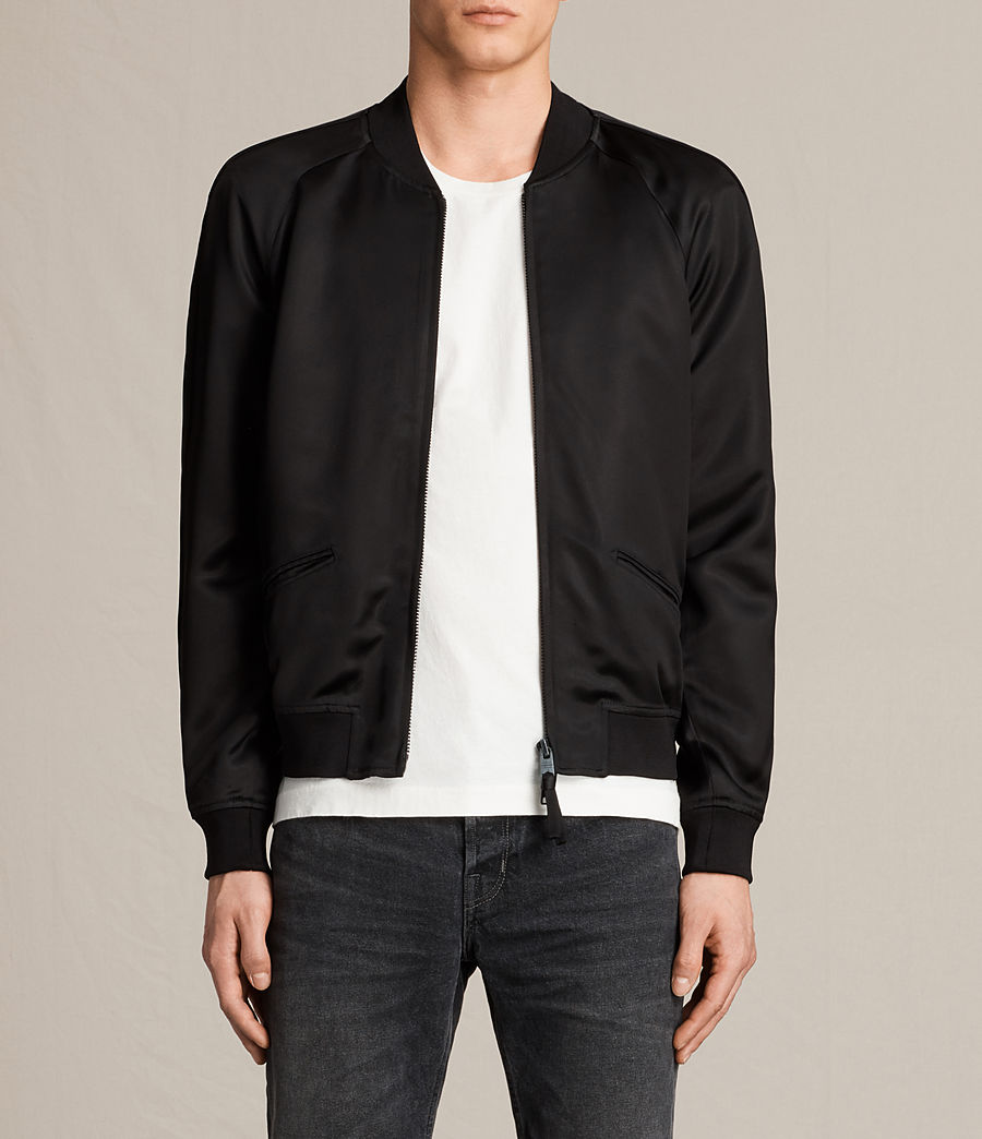 Men's Yuki Bomber Jacket (black) - Image 1
