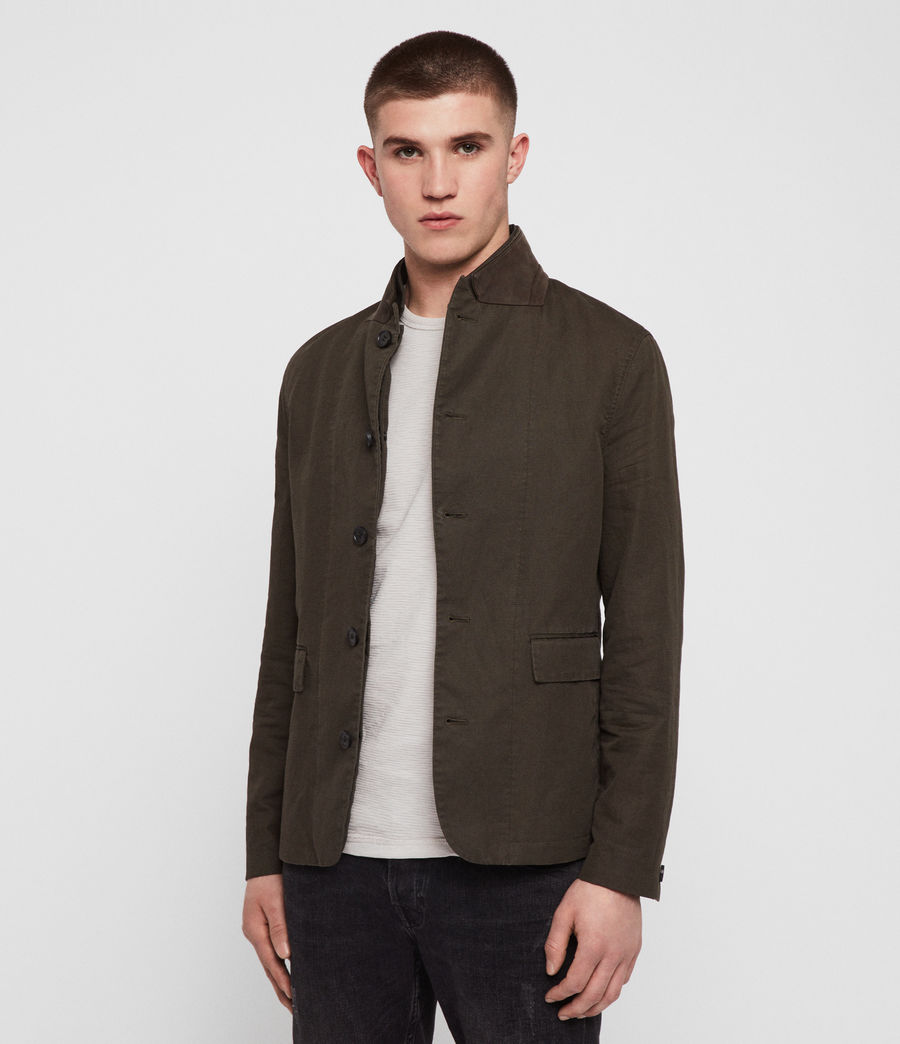 Men's Acklam Blazer (dark_khaki_green) - Image 1
