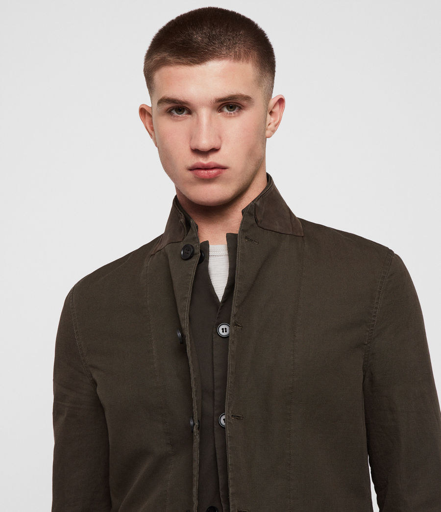 Men's Acklam Blazer (dark_khaki_green) - Image 6