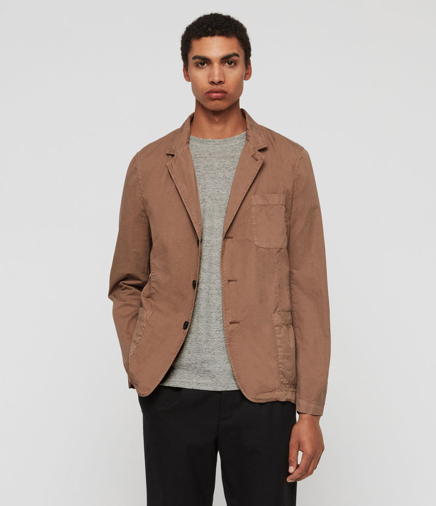 Mens Munro Blazer (dusty_khaki_green) - Image 1