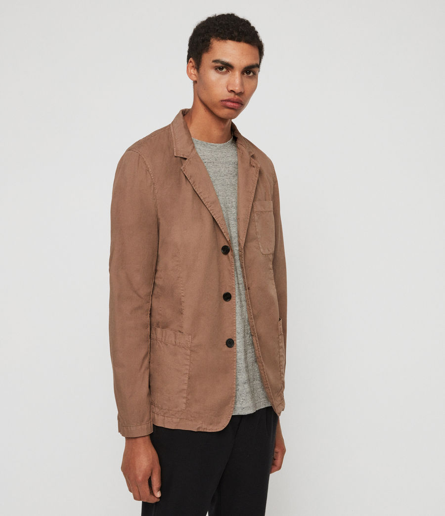 Mens Munro Blazer (dusty_khaki_green) - Image 2