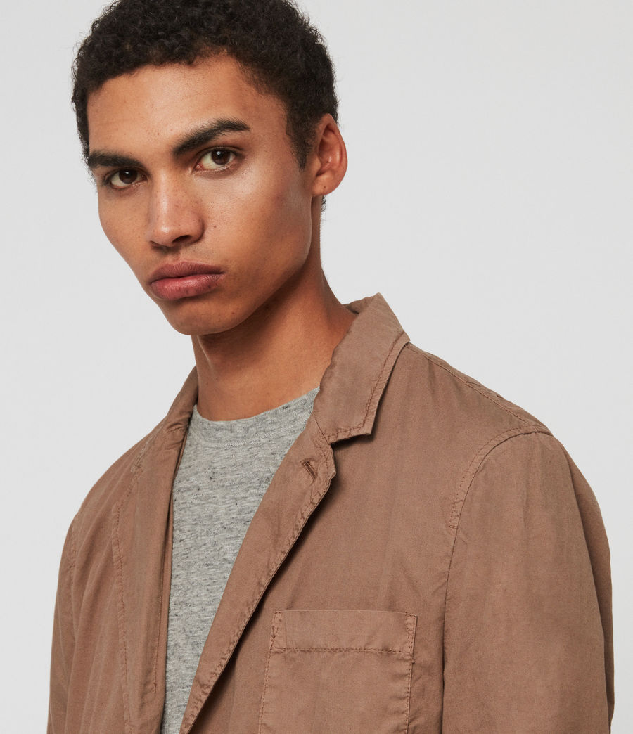 Mens Munro Blazer (dusty_khaki_green) - Image 3