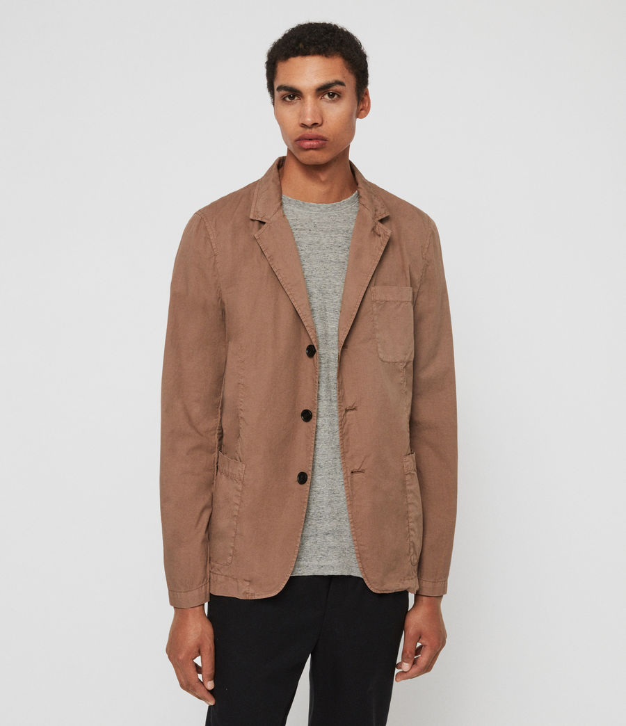 Mens Munro Blazer (dusty_khaki_green) - Image 4