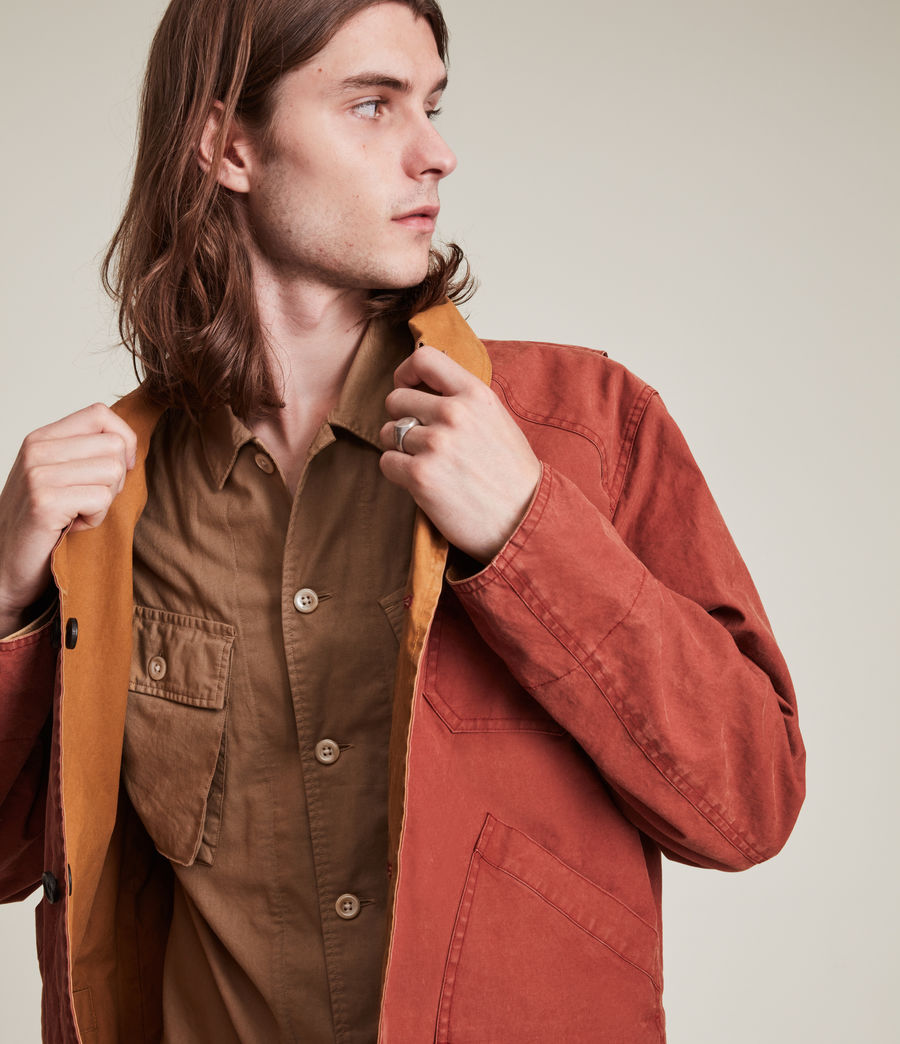 Herren Mike Reversible Jacket (red_tobacco) - Image 1