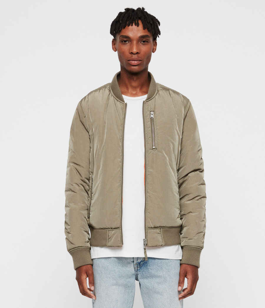 Mens Erskine Bomber Jacket (beech_green_orange) - Image 1
