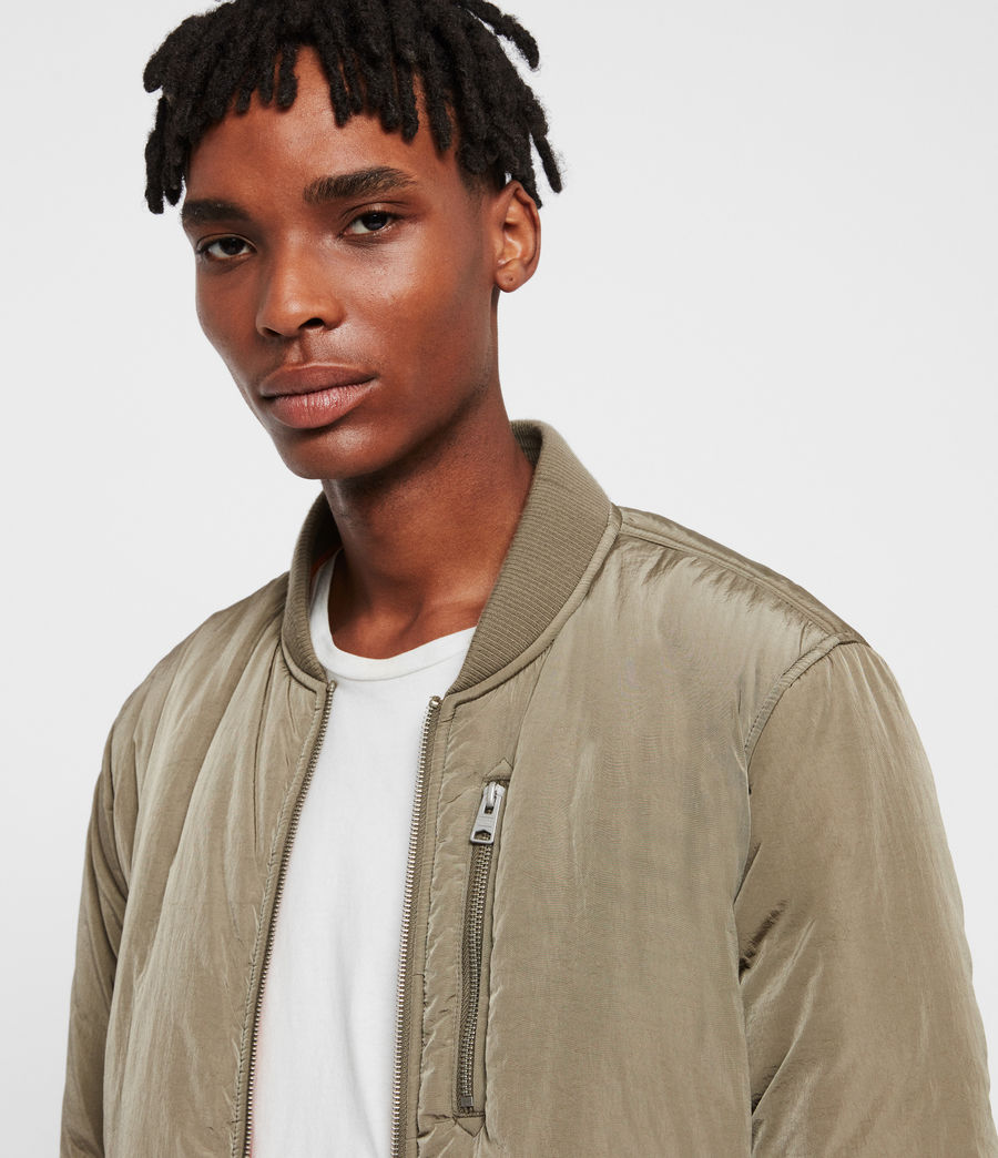 Mens Erskine Bomber Jacket (beech_green_orange) - Image 2