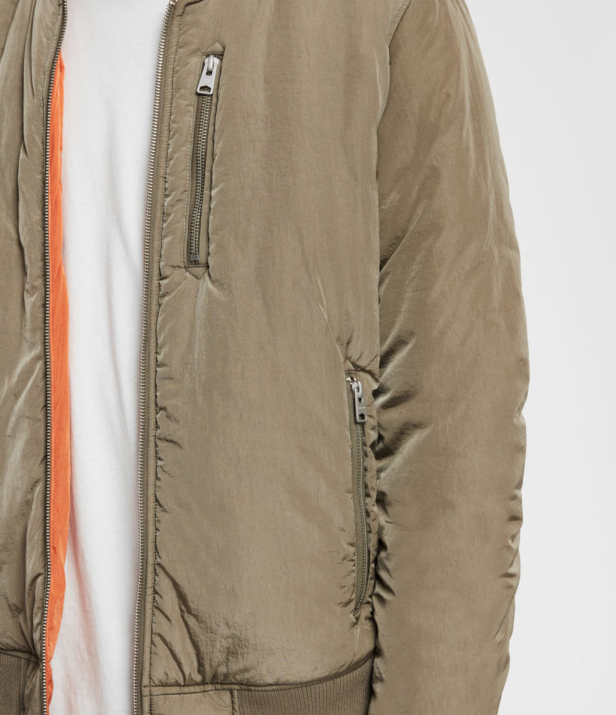 Mens Erskine Bomber Jacket (beech_green_orange) - Image 5