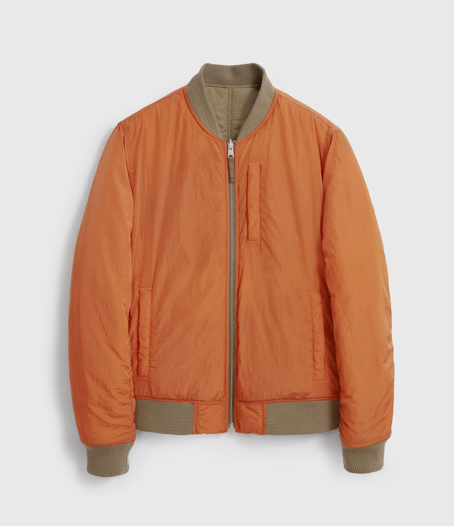 Men's Erskine Reversible Bomber Jacket (beech_green_orange) - Image 5
