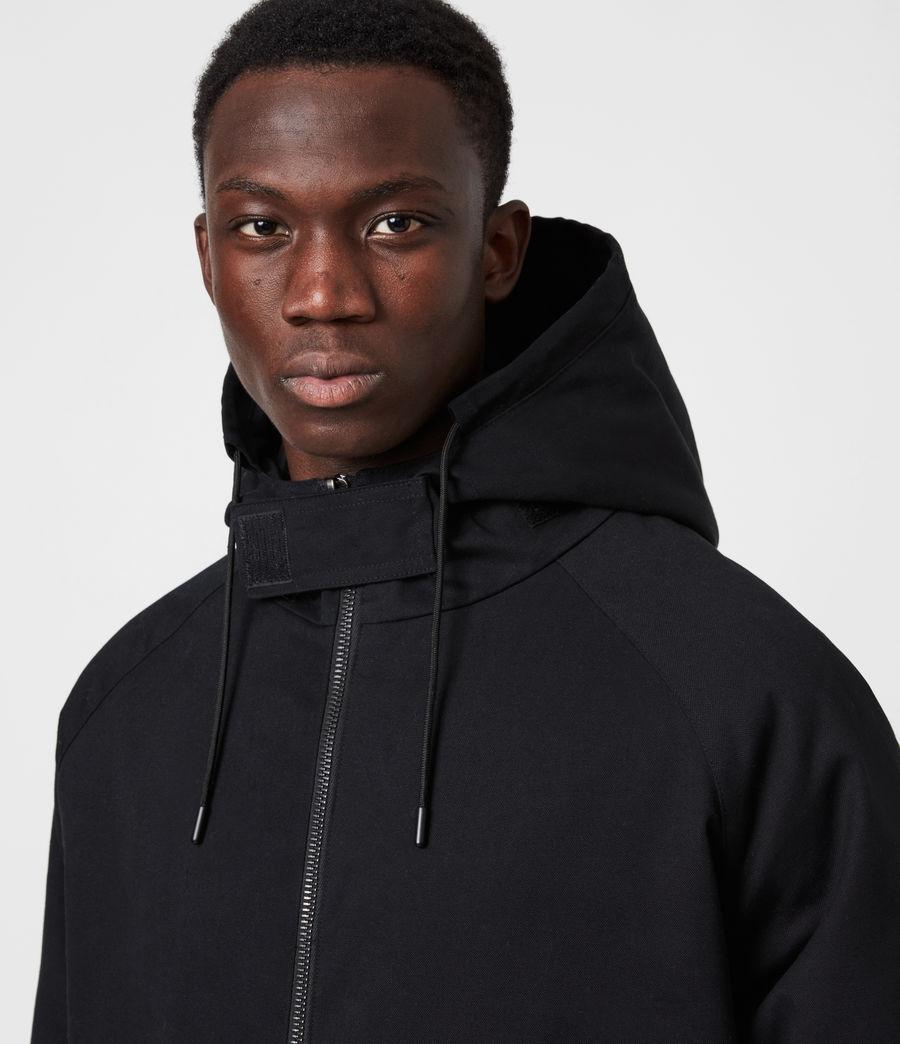Men's Jace Parka Coat (black) - Image 4