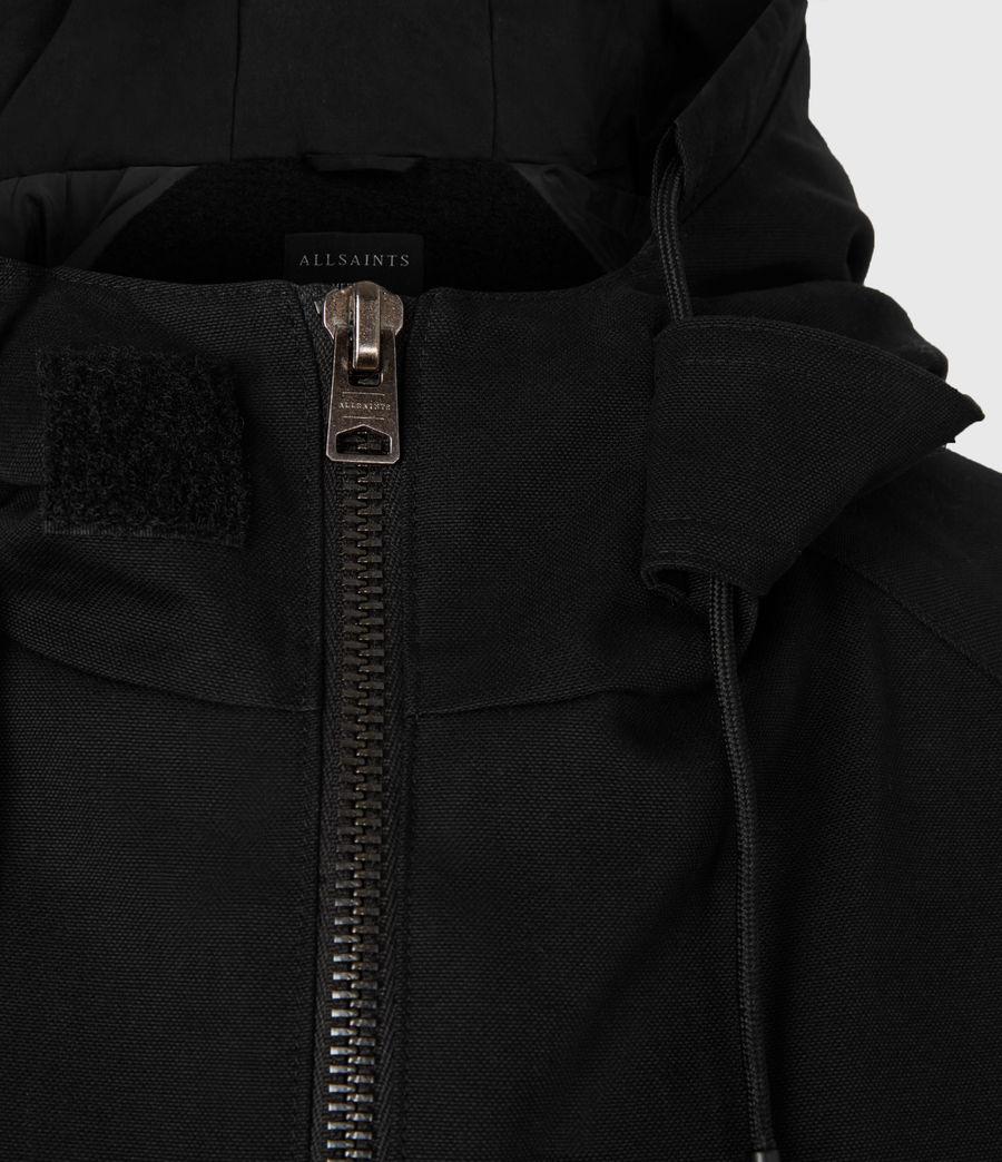 Men's Jace Parka Coat (black) - Image 6