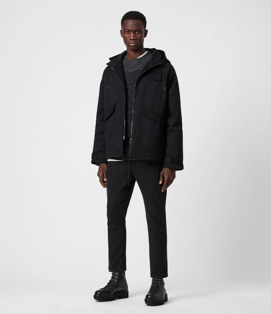 Men's Jace Parka Coat (black) - Image 7