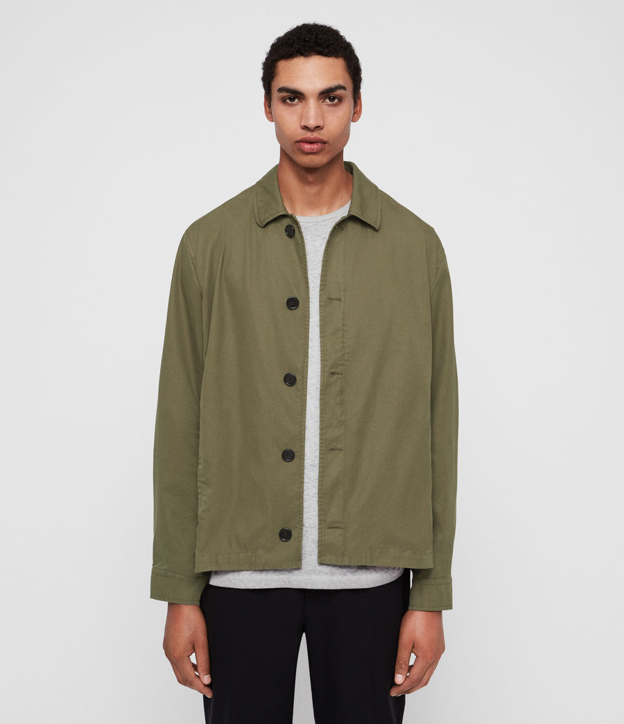 Mens Ruston Jacket (dusty_khaki_green) - Image 1