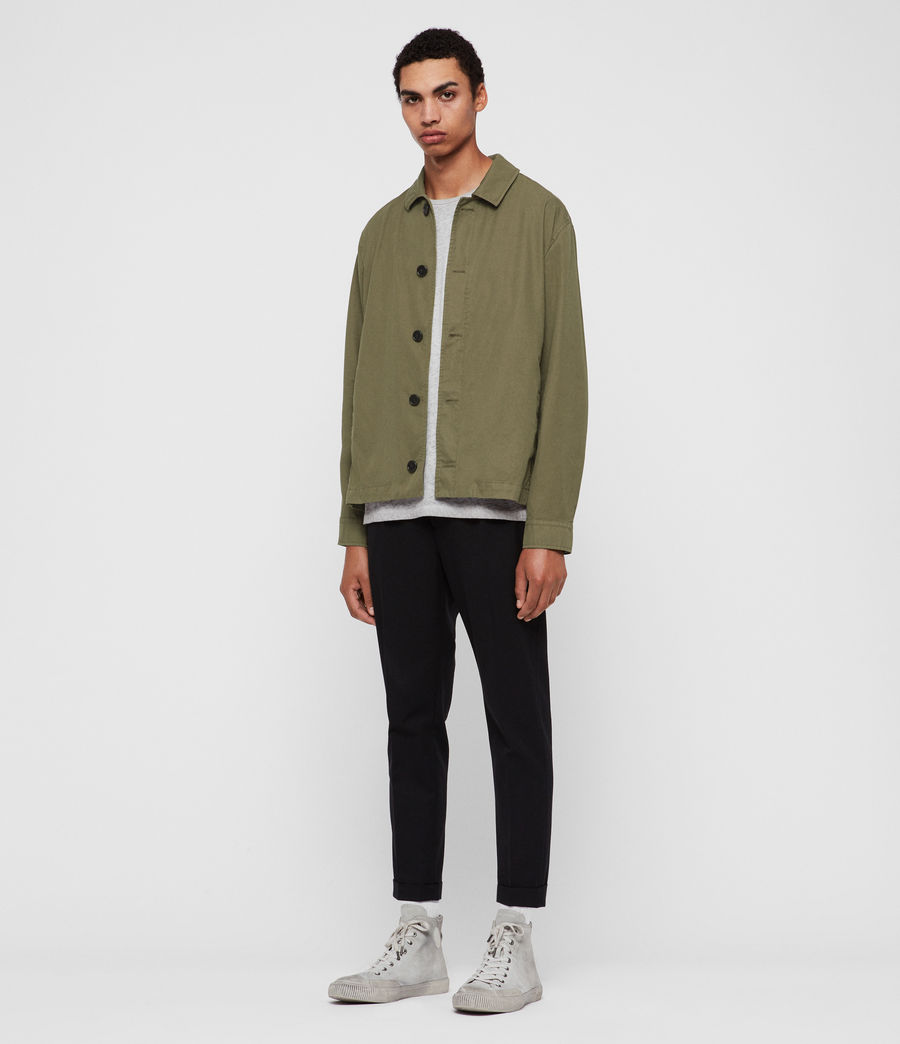 Mens Ruston Jacket (dusty_khaki_green) - Image 3