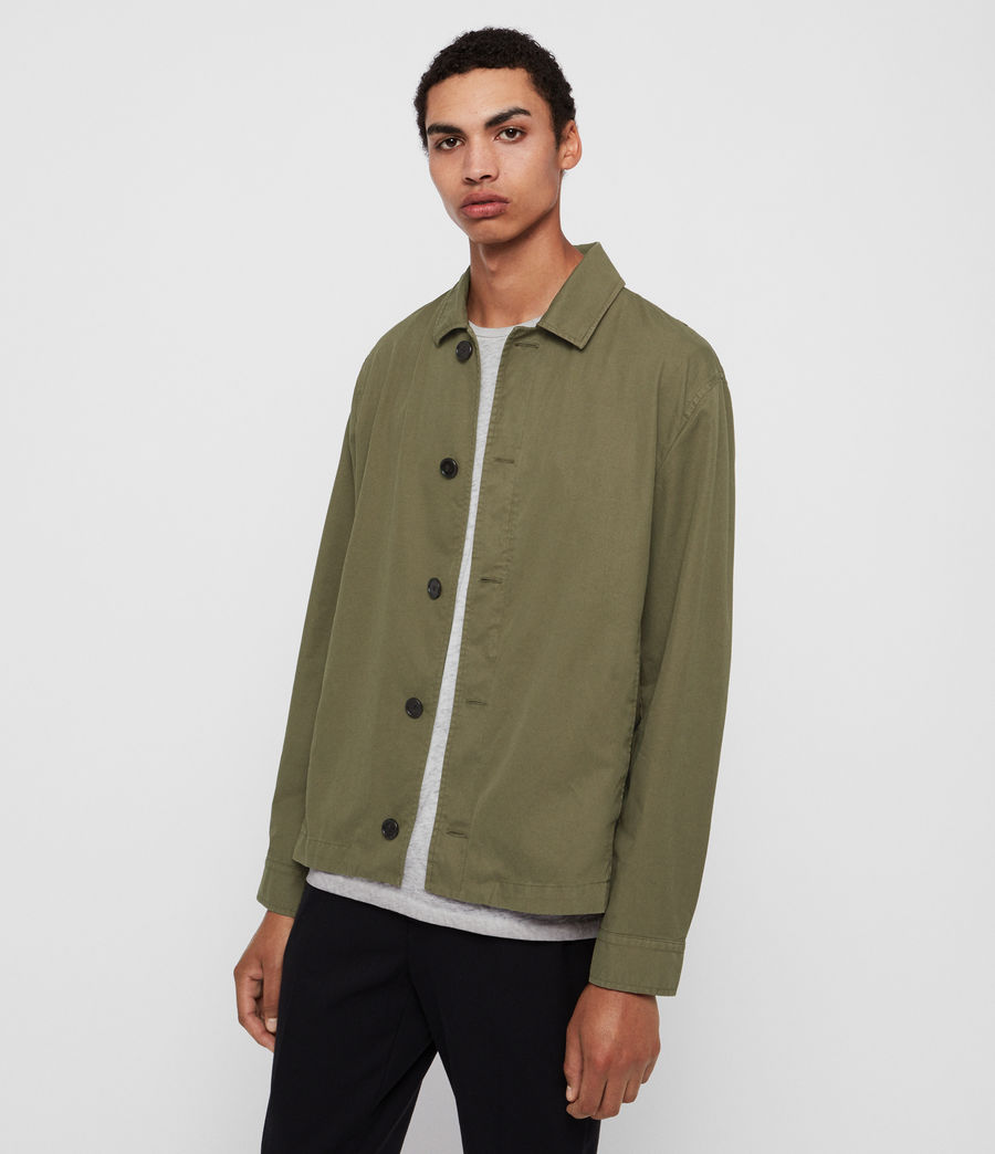 Mens Ruston Jacket (dusty_khaki_green) - Image 5