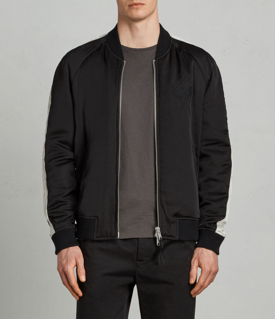 Men's Lucan Bomber Jacket (black_white) - Image 1