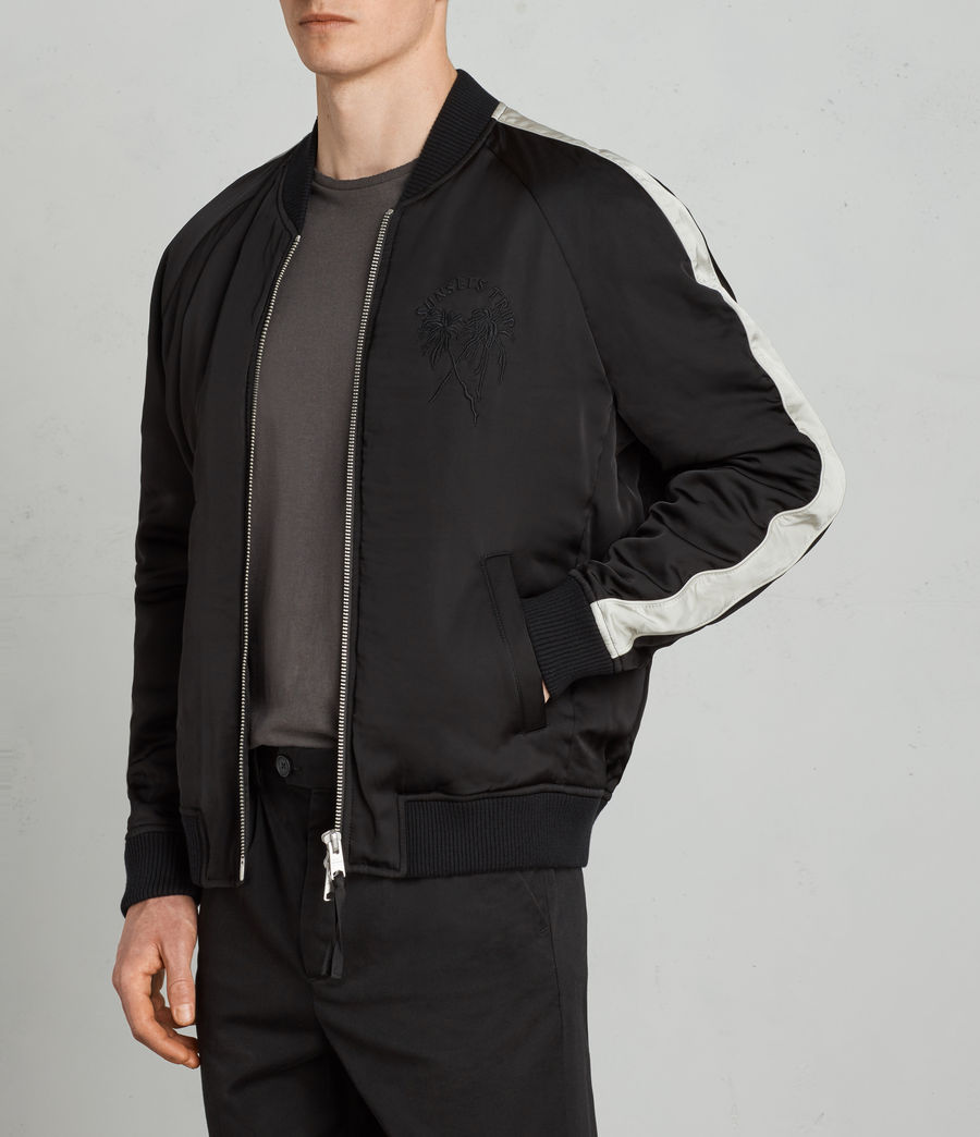 Men's Lucan Bomber Jacket (black_white) - Image 2